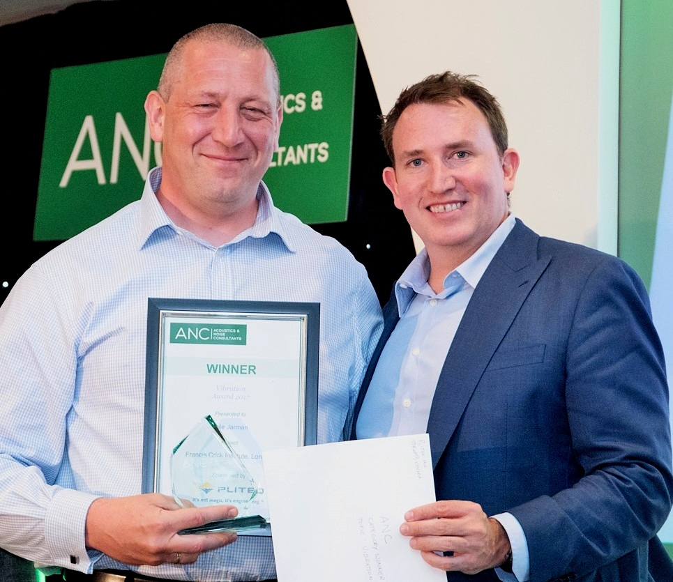Phil Hankin accepts ANC Award for Cole Jarman